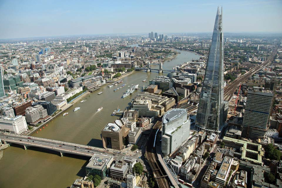English Rose The Shard Aerial View